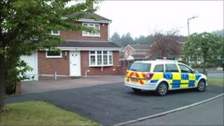 The arrest scene in Leegomery has been sealed off by police