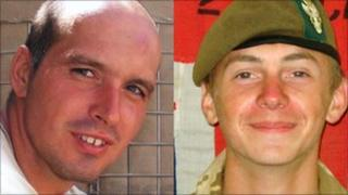 L/Cpl David Dennis and Pte Robert Laws