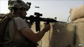 US soldier in the Arghandab Valley. 7 Sept 2010