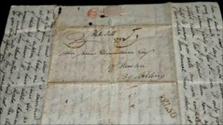 Sir Walter Scott letter