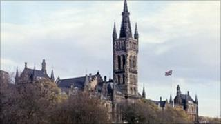 Gilbert Scott Building of Glasgow University