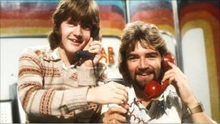 Keith Chegwin and Noel Edmonds on Swap Shop