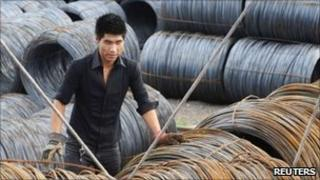 Steel wire rolls in Shenyang, China