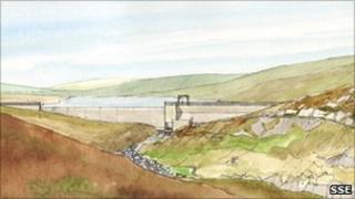 Artist's impression of Kildermorie hydro scheme. Pic: SSE