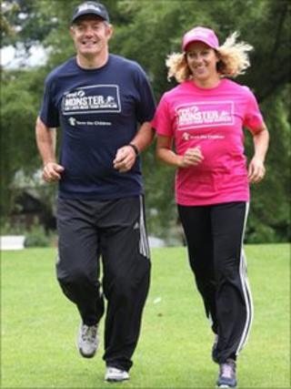 Gavin Hastings and Sally Gunnell. Pic: First Monster Challenge