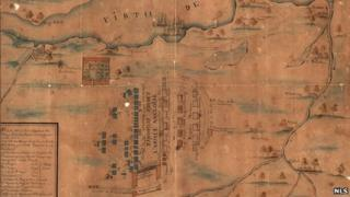Culloden battle plan from 1748. Pic: NLS