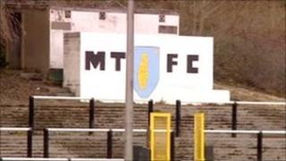Penydarren Park, home of Merthyr Tydfil FC