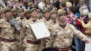 1st Battalion The Royal Anglian Regiment in Huntingdon