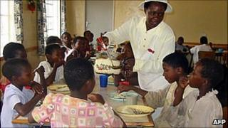 Aids orphans at a community centre in in Zimbabwe