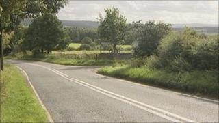 Scene of road death near Corbridge