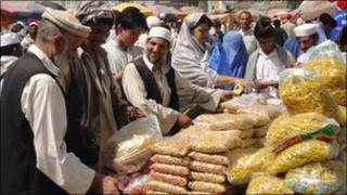 Market in Mandi