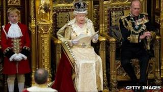 The Queen at May's State Opening of Parliament