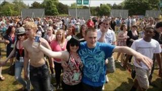 Festival goers at Radio 1 Big Weekend - Photo: Yui Mok/Press Association