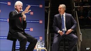 President Clinton and Tony Blair