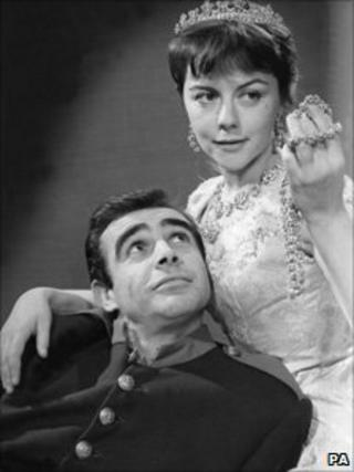 Sir Searn Connery and Dorothy Tutin