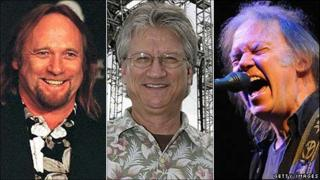 Stephen Stills, Richie Furay and Neil Young