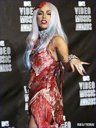 Lady Gaga in that dress