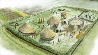 Artist's impression of an Iron Age settlement (pic: Worcestershire County Council)