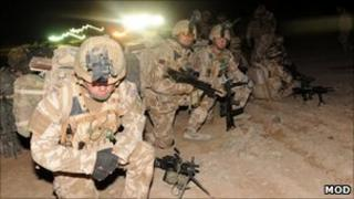 British soldiers. Pic: Ministry of Defence