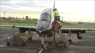 Jet on runway at St Athan