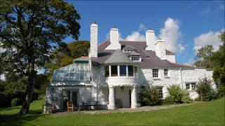 The back of Ty Newydd, the National Writers' Centre for Wales
