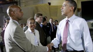 Adrian Fenty and Barack Obama