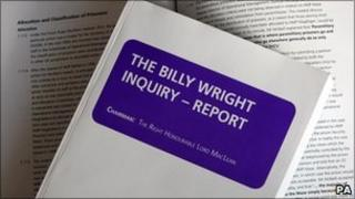 A copy of the inquiry report into the death of Billy Wright in December 1997