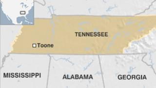 Map of Toone, Tennessee