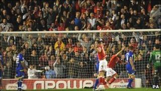 Barnsley versus Leeds match at Oakwell