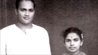 Appapillai Amirthalingam (left) and his wife Mangayarkarasi
