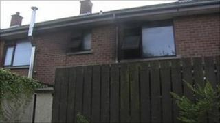 The fire broke out at Rose Court in the Waterside area of Derry