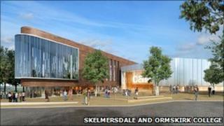 Artist's impression of new Skelmersdale campus