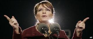 Sarah Palin campaigning in 2008