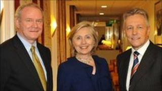 Hillary Clinton has been a high profile supporter of the peace process.