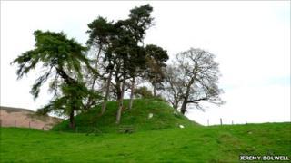 Glwyndwr's motte, Glyndyfrdwy, Corwen, Denbighshire (Pic - Jeremy Bolwell)