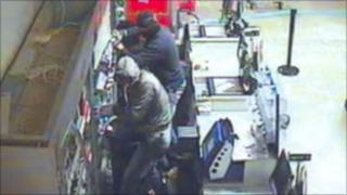 CCTV released of raiders of a supermarket in Chatteris