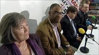Clare Short at the BBC WM Pope debate