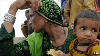 Pakistan flood survivors