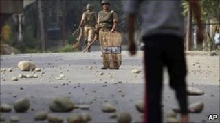 Kashmiri protester in Srinagar on 16 September 2010