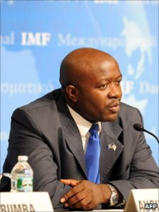 Liberia's finance minister Augustine Ngafuan