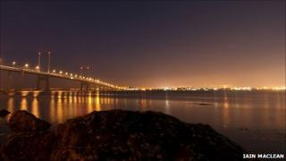 Inverness and Kessock Bridge at night. Pic: Iain Maclean