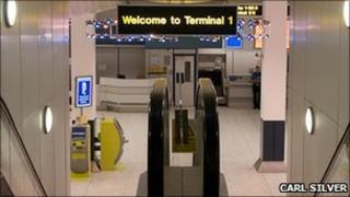 Manchester Airport's Terminal 1 (pic courtesy of Carl Silver)