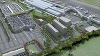 Airport expansion illustration