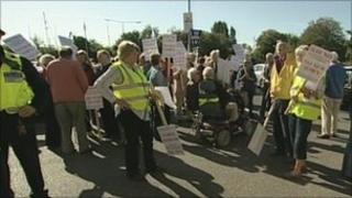 Protest in Woodbridge