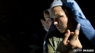 Woman voter in Kabul