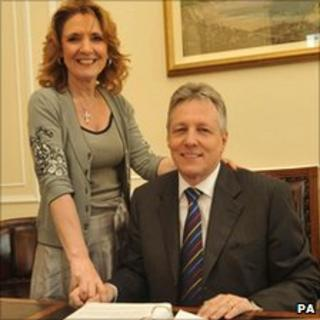 Iris and Peter Robinson pictured in 2008