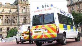 police vans george square