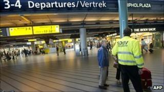File picture of Schiphol airport in Amsterdam