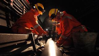 London Underground workmen