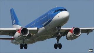 A BMI aeroplane